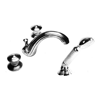 Cristal et Bronze Bonroche Смеситель для ванны, излив 160 мм, цвет хром