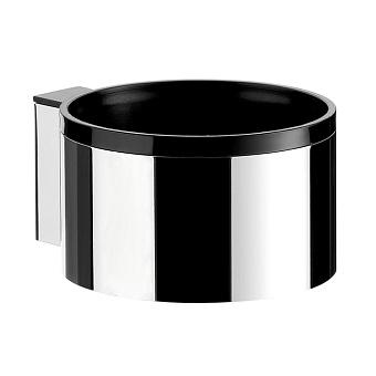 EMCO System2 Держатель для фена, вставка черная, цвет: хром