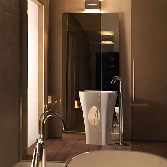 KERASAN Aquatech раковина отдельностоящая 60см, с креплением и сифоном, цвет белый