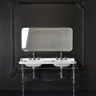 KERASAN Waldorf Консоль 150х55см с раковиной на 3 отв, цвет: хром