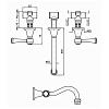 Zucchetti Agora Classic Cмеситель для раковины с аэратором на 3 отверстия, цвет: хром