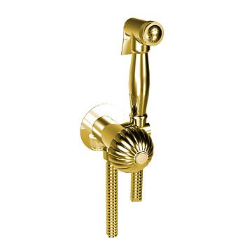 BONGIO RADIANT Гигиенический душ с прогрессивным смесителем, шланг 1200 мм., держатель с подводом воды, цвет: золото