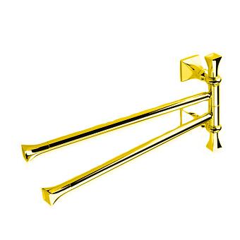 StilHaus Prisma Полотенцедержатель двойной поворотный, подвесной монтаж, цвет: золото