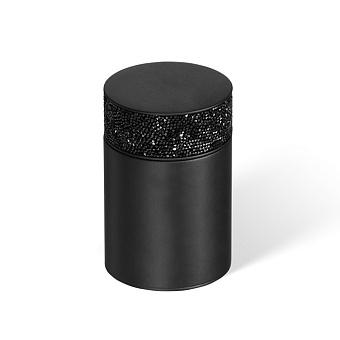 Decor Walther Rocks BMD1 Баночка универсальная 6.5x9.8см, с кристаллами Swarovski, цвет: черный матовый