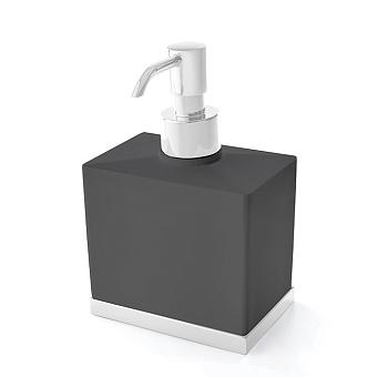 3SC Mood Deluxe Дозатор настольный, композит Solid Surface, цвет: чёрный матовый/белый матовый
