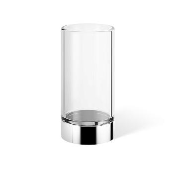 Decor Walther Century SMG Стакан настольный, прозрачное стекло, цвет: хром