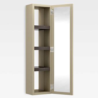 Armani Roca Island Настенный шкаф 30.2х16хh120см, с двумя зеркалами и полочками DX, цвет: greige