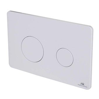 Noken Rondo Двойная кнопка спуска, цвет: белый