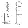 Carlo Frattini Fimatherm Смеситель для душа встроенный, термостатический, 2 запорных вентиля, цвет: чёрный матовый