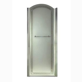 Душевая дверь Gentry Home Arcadia 90х100 см, открытие слева/справа, ручка и профиль (хром)