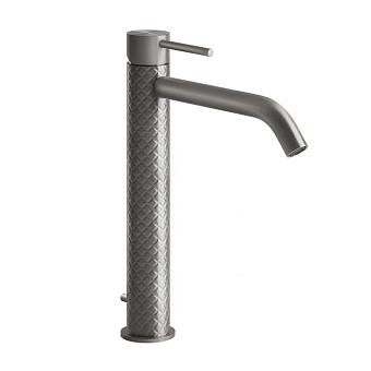 Gessi Intreccio Смеситель однорычажный высокий с донным клапаном, цвет: шлифованная сталь
