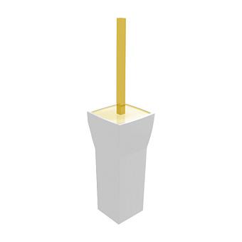 Bertocci Grace Ерш напольный, цвет: белая керамика/золото матовое