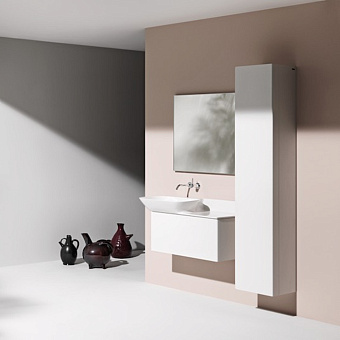 Laufen INO Шкаф подвесной, 360х305х1800мм, с 1 дверцей, DX, цвет: белый матовый