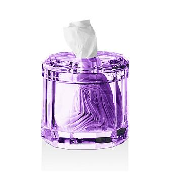 Decor Walther Kristall KB Диспенсер для салфеток 15x15см, хрустальное стекло, цвет: фиолетовый