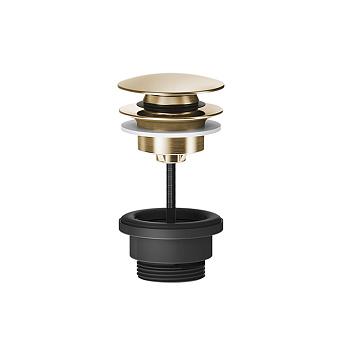 """Gessi 316 Донный клапан нажимной """"Stop&Go"""", для раковин без перелива, цвет: Warm Steel Brushed PVD"""