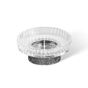 Decor Walther Rocks STS Мыльница настольная, граненое стекло, с кристаллами Swarovski, цвет: хром