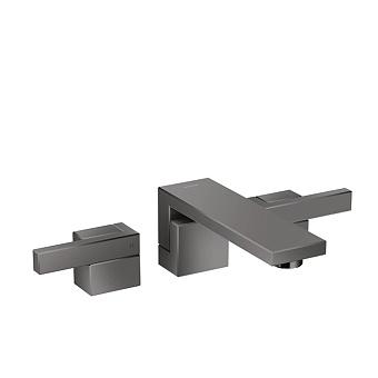 Axor Edge Смеситель для раковины, на 3 отв., с донным клапаном push/open, излив 190мм, цвет: черный