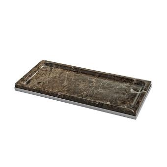 3SC Palace MARMO Лоток универсальный, настольный, цвет: мрамор Emperador dark/хром