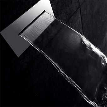 """Gattoni PD Встроенный излив в стену с функцией: """"водопад"""", 30*14,5 см, цвет хром"""