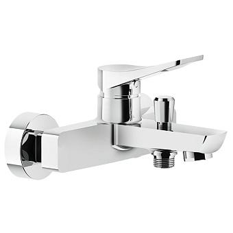 Gessi Rilievo Смеситель для ванны настенный, излив 153мм, с автоматическим переключателем ванна-душ, цвет: хром