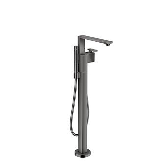 Axor Edge Смеситель для ванны, напольный, с ручным душем, излив 255мм, алмазная огранка, цвет: черный