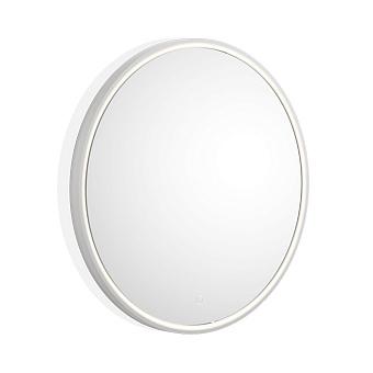 Decor Walther Stone Зеркало круглое 70см, LED, искусственный камень, цвет: белый