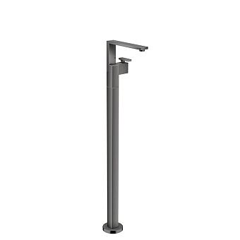 Axor Edge Смеситель для раковины, напольный, с донным клапаном push/open, излив 235мм, алмазная огранка, цвет: черный