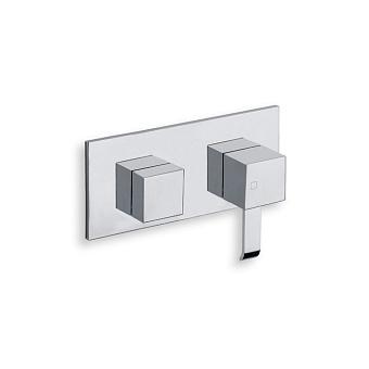 Cristina Quadri Смеситель для ванны/душа с переключателем на 3 выхода, встраиваемый, цвет: хром