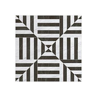 Devon&Devon Elite Плитка из натурального камня 60x60см, универсальная, мрамор, elite 11, цвет: white carrara/black marquinha