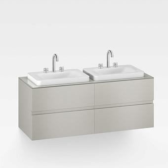 Armani Roca Baia Тумба подвесная с 2 раковинами, 155х59х61см с 4 ящиками, со столешницей, цвет: silver