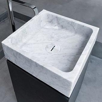 Antonio Lupi Blokko Раковина накладная 45х45х15.5 см из натурального камня, цвет: Marmo Carrara