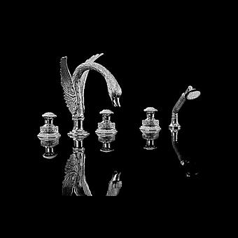 Devon&Devon Excelsior Swan Смеситель для ванны на пять отверстий, цвет: хром