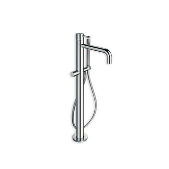 Cristina Tricolore Verde Смеситель для ванны с ручным душем, напольный, цвет: хром