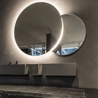 Agape Eclissi Зеркало двойное с LED подсветкой d50, d70 см