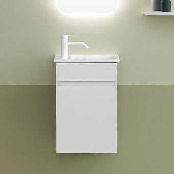 Burgbad Lin20 Комплект мебели 42х27х60см., Sx, подвесной, 1 дверь, с 1 отв., раковина белая, цвет: белый матовый