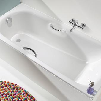 Kaldewei Saniform Plus STAR, ванна, водоизмещение 82, 123 литра, материал сталь-эмаль 3,5 мм, 1500х700х410 мм, (необходимо доукомплектовать ножками 5030 и ручками 5876 7000 0999, сифоном), цвет: белый