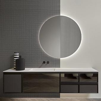 Antonio Lupi Bemade Комплект подвесной мебели с тумбами под раковину, раковиной PODIO90, зеркалом с подсветкой, 90 см, цвет: Rovere Ardesia