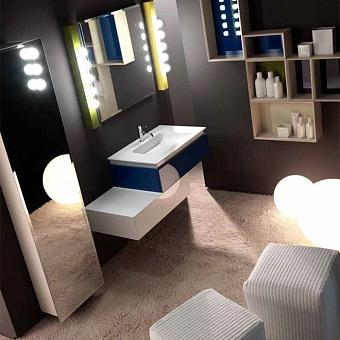 Karol KS comp. №16, комплект подвесной мебели 120 см. цвет: Blu Mare + Bianco