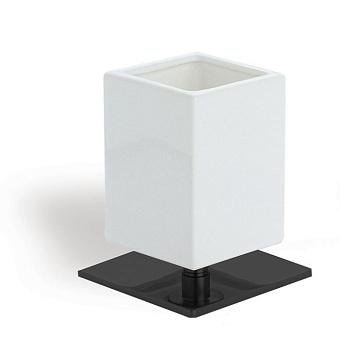 StilHaus Urania Настольная мыльница, цвет: черный матовый/белая керамика
