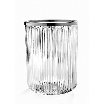 3SC Elegance Ведро, без крышки, 20хh28х20 см, цвет: прозрачный хрусталь/хром