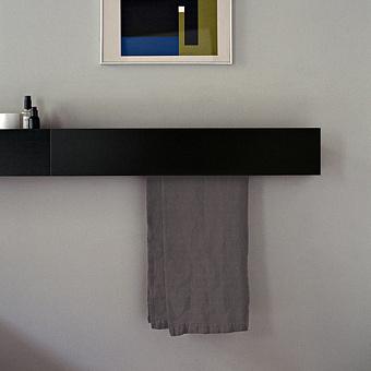 Agape Sen Полотенцедержатель, 40см, цвет: черный