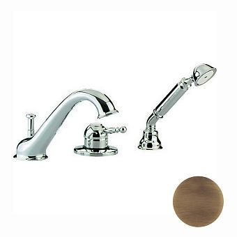 CISAL Arcana Royal Смеситель однорычажный на борт ванны на 3 отверстия,излив 200 мм, цвет бронза
