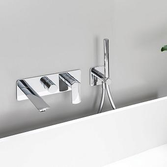 Cristina Cristina Profilo Смеситель для ванны/душа с переключателем на 2 выхода, встраиваемый, цвет: хром