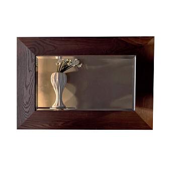 KERASAN Bentley Зеркало в деревянной раме 120х80см, цвет темный ясень
