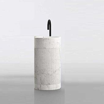 NOORTH milldue edition ROMA Раковина 45х88 см, напольная, без перел, с дон клап, цоколь Bianco Carrara, цвет: Bianco Carrara, Bianco Carrara