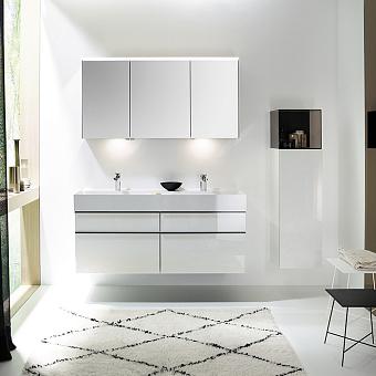 Burgbad Yumo Комплект подвесной мебели 131x47x64 см, цвет белый