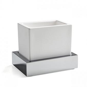 3SC SK 3.0 Стакан настольный, композит Solid Surface, цвет: цвет: белый/хром