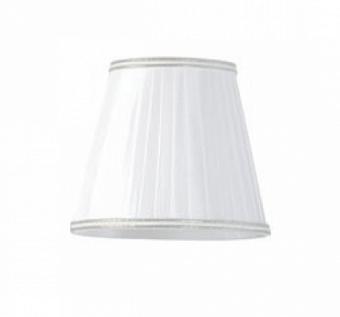 TW 14, абажур для светильника E14, цвет ткани: белый с хромовым кантом
