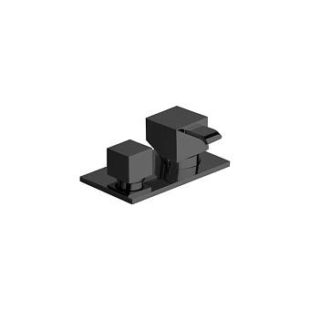 Cristina Quadri Смеситель для ванны с переключателем на 2 выхода, цвет: черный матовый
