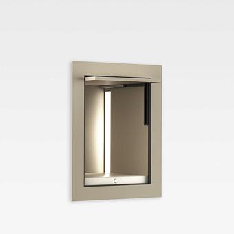 Armani Roca Island Встраиваемый шкафчик 20x16.7xh25см для хранения с подсветкой (транформатор 12V/DC не включен), цвет: greige
